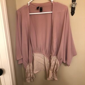 Dusty pink/cream chiffon kimono!
